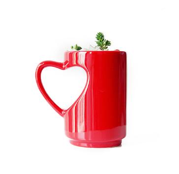 tazza a forma di cuore per san valentino