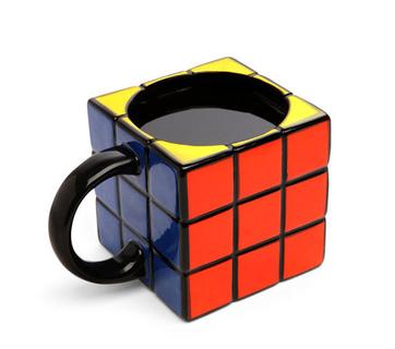 tazza particolare forma quadrata cubo di rubik